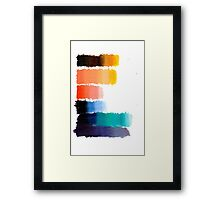 Rainbow Value Scales Framed Print