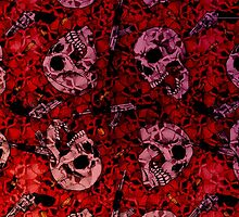 Skull Gun Tile Pattern by nbear1