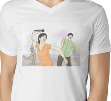 Party Animal Mens V-Neck T-Shirt