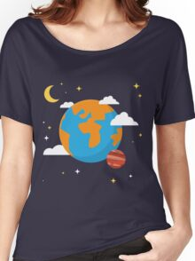 Earth Planet Women's Relaxed Fit T-Shirt