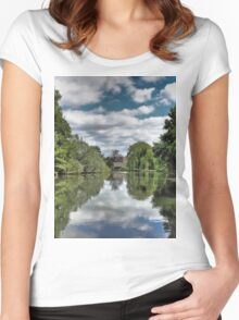 River Bure Wroxham to Coltishall Women's Fitted Scoop T-Shirt