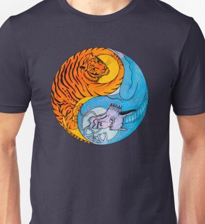 Tiger Dragon Yin Yang Unisex T-Shirt