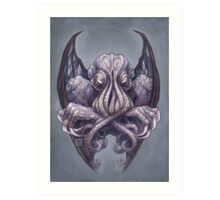 Cthulhu Dreaming, in Decadent indigo Art Print