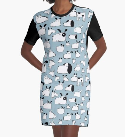 Many Dogs Graphic T-Shirt Dress