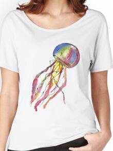 Watercolor Jellyfish Women's Relaxed Fit T-Shirt