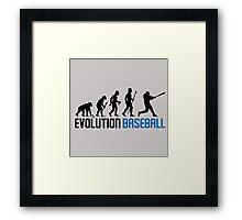 Evolution Baseball Framed Print