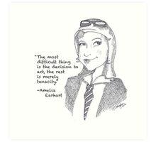 Amelia Earhart - Tenacity Art Print