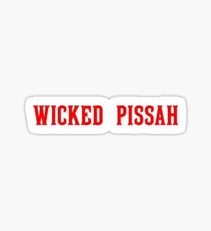 Wicked Pissah - Red Sox Sticker