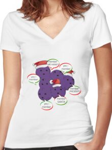 MEMBERBERRIES MEMBER CHRISTMAS| LIMITED eDITION 250 aVAILABLE  Women's Fitted V-Neck T-Shirt