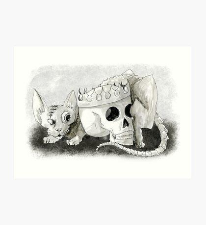 Frankencat Art Print