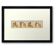Sign Language of Love Framed Print