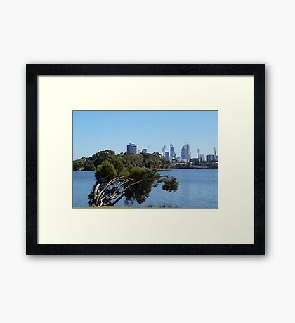 Perth from Burswood, W.A Framed Print