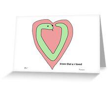 Snek Heart - Tiny Snek Comics Greeting Card