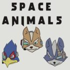 Space Animals Fox, Falco, Wolf (Smash Bros) by CalvertSheik