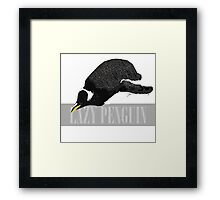Lazy Penguin Framed Print