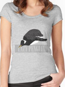 Lazy Penguin Women's Fitted Scoop T-Shirt