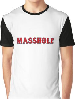 Red Sox Masshole Navy Blue / Red Graphic T-Shirt