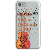 Fall in love with KPOP sarang iPhone Case/Skin