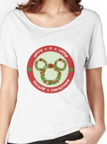 Mickey Christmas Holiday Design Women's Relaxed Fit T-Shirt