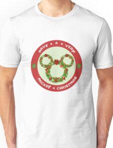 Mickey Christmas Holiday Design Unisex T-Shirt