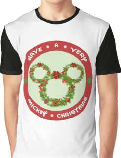 Mickey Christmas Holiday Design Graphic T-Shirt