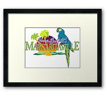 Jimmy Buffett Margaritaville Logo Framed Print