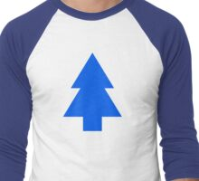 Dipper Pines Tree Shape // Gravity Falls Men's Baseball ¾ T-Shirt