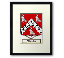Childs Coat of Arms (English) Framed Print