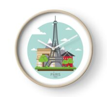 Paris France Eiffel Tower Visitors Tourist Edition Clock