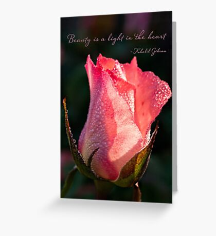 Inspirational rose Greeting Card