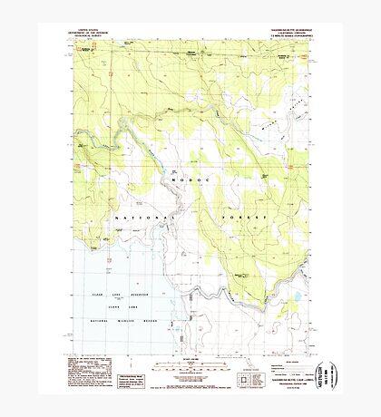 USGS TOPO Map California CA Sagebrush Butte 294896 1988 24000 geo Photographic Print