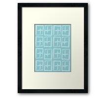 Brush Tile Framed Print