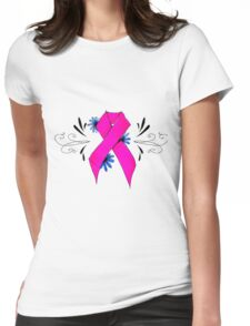 Pink Ribbon Womens Fitted T-Shirt