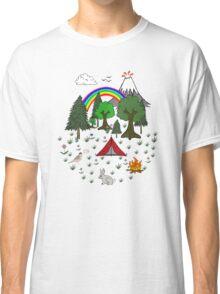 Camping Diorama Stickers Classic T-Shirt