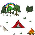Camping Diorama Stickers by Rob Price