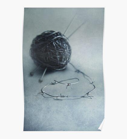 Lets knit a bit Poster