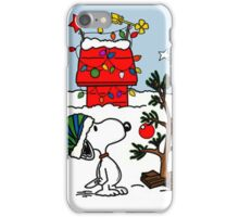 CHARLIE BROWN PEANUTS SNOOPY XMAS MATA 5 iPhone Case/Skin