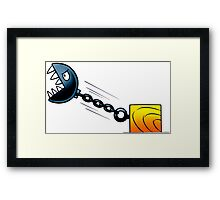 Angry Stone Ball Framed Print