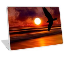 Dreams Fly Beyond Sunset Point   Laptop Skin
