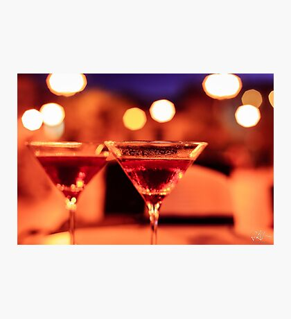 Martini glass on a table Photographic Print