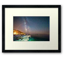 Milky way in the sky of Croatia Framed Print
