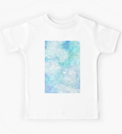 Winter snow watercolour in blue and turquoise ice, snow and water blue shades Kids Tee