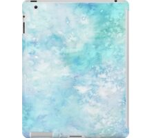 Winter snow watercolour in blue and turquoise ice, snow and water blue shades iPad Case/Skin