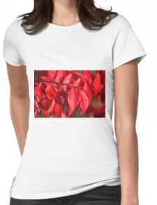 Burning Bush Womens Fitted T-Shirt