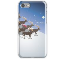 Rudolph the red-nosed reindeer, Merry Christmas iPhone Case/Skin