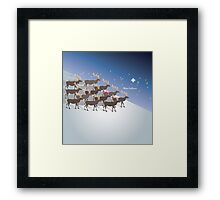 Rudolph the red-nosed reindeer, Merry Christmas Framed Print