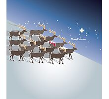 Rudolph the red-nosed reindeer, Merry Christmas Photographic Print