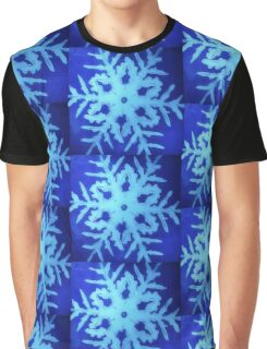 blue snowflake -watercolor 2 Graphic T-Shirt