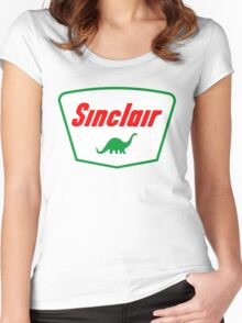 Oil lubricant Vintage Sinclair logo Women's Fitted Scoop T-Shirt