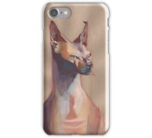Colorful Sphynx cat iPhone Case/Skin